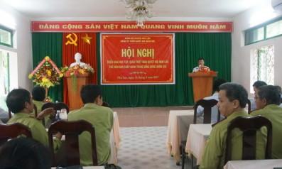 Đảng Ủy Vườn quốc gia Bạch Mã tổ chức Hội nghị triển khai học tập, quán triệt Nghị quyết Hội nghị lần thứ năm Ban chấp hành Trung ương Đảng ( khóa XII)