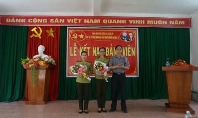 Chi bộ Trung tâm Giáo dục môi trường và Dịch vụ Vườn quốc gia  Bạch Mã tổ chức lễ kết nạp đảng viên mới