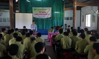 Vườn quốc gia Bạch Mã tổ chức tập huấn nghiệp vụ Kiểm lâm  năm 2017