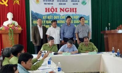 Hội nghị  ký kết Quy chế phối hợp công tác quản lý bảo vệ rừng vùng giáp ranh giữa Chi cục Kiểm lâm tỉnh Quảng Nam, Chi cục Kiểm lâm tỉnh Thừa Thiên Huế   và Vườn Quốc gia Bạch Mã