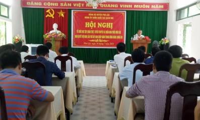 Đảng Ủy Vườn quốc gia Bạch Mã tổ chức Hội nghị học tập, quán triệt, tuyên truyền và triển khai thực hiện các Nghị quyết Hội nghị lần thứ 7 Ban chấp hành trung ương Đảng (khóa XII)