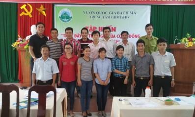 Vườn quốc gia Bạch Mã tổ chức tập huấn